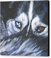 Siberian Husky Eyes Canvas Print by Lee Ann Shepard