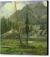 Sierra Nevada Mountains Canvas Print by Albert Bierstadt