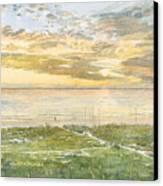 Siesta Key Sunset Canvas Print by Shawn McLoughlin