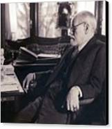 Sigmund Freud Seated In His Study Canvas Print by Everett