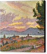 Signac: St Tropez, 1896 Canvas Print by Granger