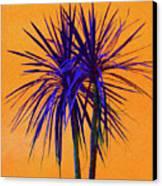Silhouette On Orange Canvas Print by Margaret Saheed