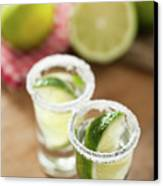 Silver Tequila, Limes And Salt Canvas Print by by Marion C. Haßold, www.marionhassold.com
