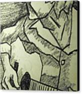 Sketch - Guitar Man Canvas Print by Kamil Swiatek