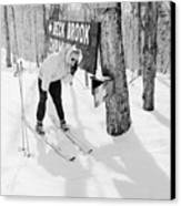 Skier's Telephone Canvas Print by Titchen