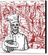 Skull Cook Canvas Print by Aloysius Patrimonio
