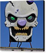 Skull Fun House Sign Canvas Print by Garry Gay