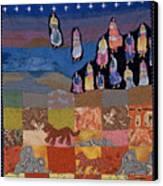 Sky Dancers Canvas Print by Roberta Baker
