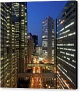 Skyscrapers Of Shinjuku, Tokyo Canvas Print by Vladimir Zakharov