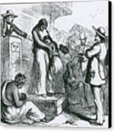 Slave Auction Canvas Print by Photo Researchers