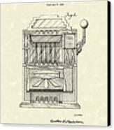 Slot Machine 1932 Patent Art Canvas Print by Prior Art Design