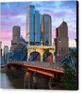Smithfield Street Bridge Canvas Print by Emmanuel Panagiotakis