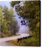 Smokey Mountain Road Canvas Print by Shirley Dawson
