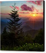 Smoky Mountain Sunset Canvas Print by Christopher Mobley