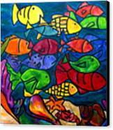 Snorkeling Off Norman Island Canvas Print by Patti Schermerhorn