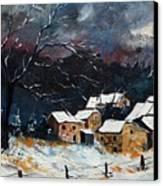 Snow 57 Canvas Print by Pol Ledent