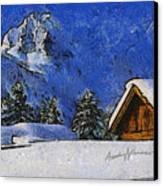Snow Covered Canvas Print by Anthony Caruso