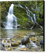 Snow Creek Falls Canvas Print by Idaho Scenic Images Linda Lantzy