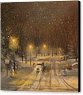 Snow For Christmas Canvas Print by Tom Shropshire