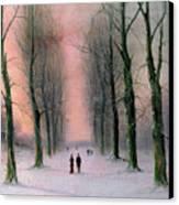 Snow Scene Wanstead Park   Canvas Print by Nils Hans Christiansen