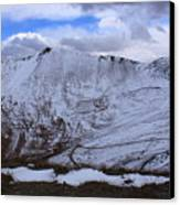 Snowy Mountain Canvas Print by Angie Wingerd