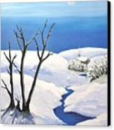 Snowy Scene Canvas Print by Reb Frost