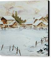 Snowy Village Canvas Print by Xueling Zou