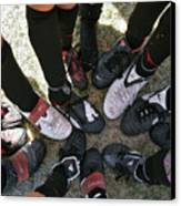 Soccer Feet Canvas Print by Kelley King