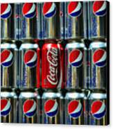 Soda - Coke Vs. Pepsi Canvas Print by Paul Ward