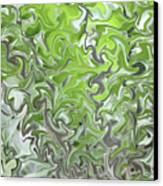 Soft Green And Gray Abstract Canvas Print by Carol Groenen