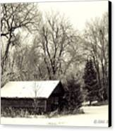 Soft Snow Cover Canvas Print by Don Durfee
