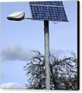 Solar Powered Street Light, Uk Canvas Print by Mark Williamson