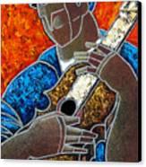 Solo De Cuatro Canvas Print by Oscar Ortiz