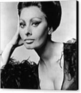 Sophia Loren, In Costume For Arabesque Canvas Print by Everett