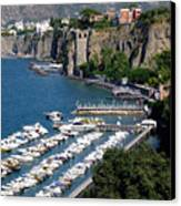 Sorrento Seaport Canvas Print by Mindy Newman
