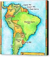South American Independence Canvas Print by Jennifer Thermes