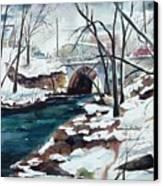 South Main Street Bridge Canvas Print by Scott Nelson