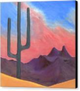 Southwest Scene Canvas Print by J R Seymour