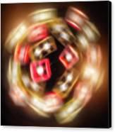 Sphere Of Light Canvas Print by Wim Lanclus