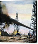 Spindletop Oil Pool, C1906 Canvas Print by Granger