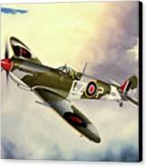 Spitfire Canvas Print by Marc Stewart