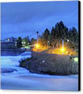 Spokane Falls Canvas Print by Michael Gass