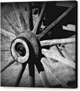 Spoked Wheel Canvas Print by Perry Webster
