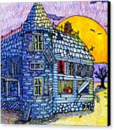 Spooky House Canvas Print by Jame Hayes