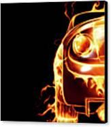 Sports Car In Flames Canvas Print by Oleksiy Maksymenko