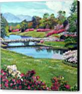 Spring Flower Park Canvas Print by David Lloyd Glover