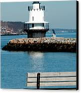 Spring Point Ledge Lighthouse Canvas Print by Greg Fortier