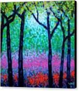 Spring Woodland Canvas Print by John  Nolan