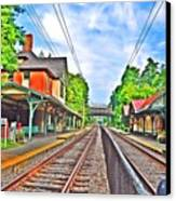 St. Martins Train Station Canvas Print by Bill Cannon