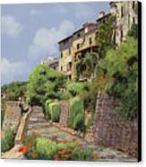 St Paul De Vence Canvas Print by Guido Borelli